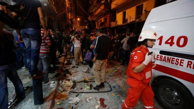Bombing in Beirut, photo by EPA