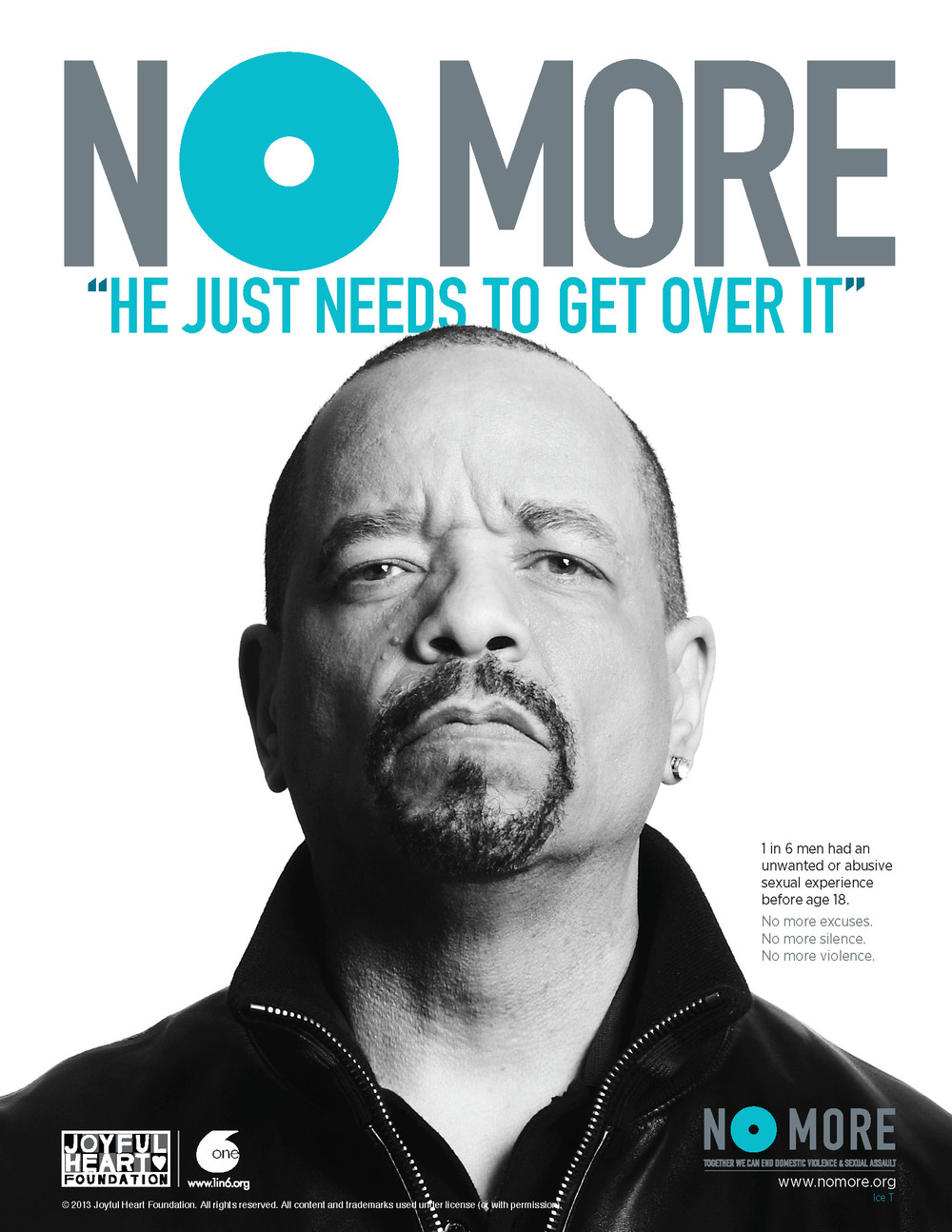 Ice T in No More campaign