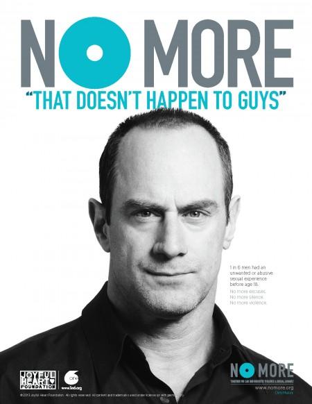 Chris Meloni in   No More   campaign