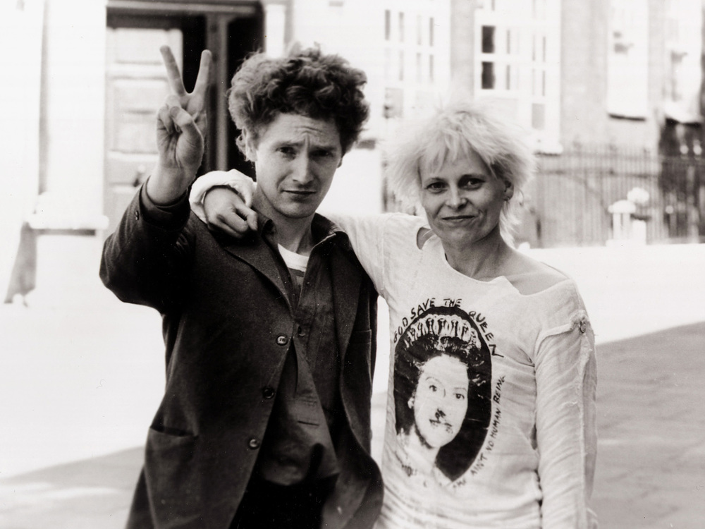 Malcolm McLaren and Vivienne Westwood. Photo by Sunday People