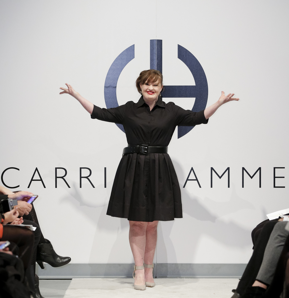 Jamie Brewer at Carrie Hammer's New York Fashion Week show, 2015. Photo by Brian Ach, Getty Images