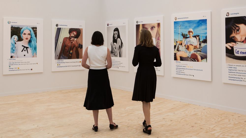 Richard Prince 's 'New Portraits' exhibition at  Gagosian  New York Gallery, 2014