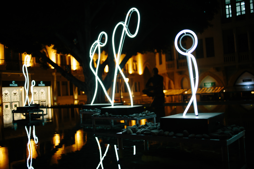 ' my light is your light... ' installation by Alaa Minawi