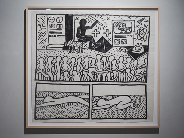 Keith Haring's work exhibited at Kolumba art museum