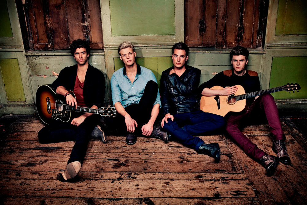 From left to right: Andy with Lawson band-mates Ryan, Adam and Joel