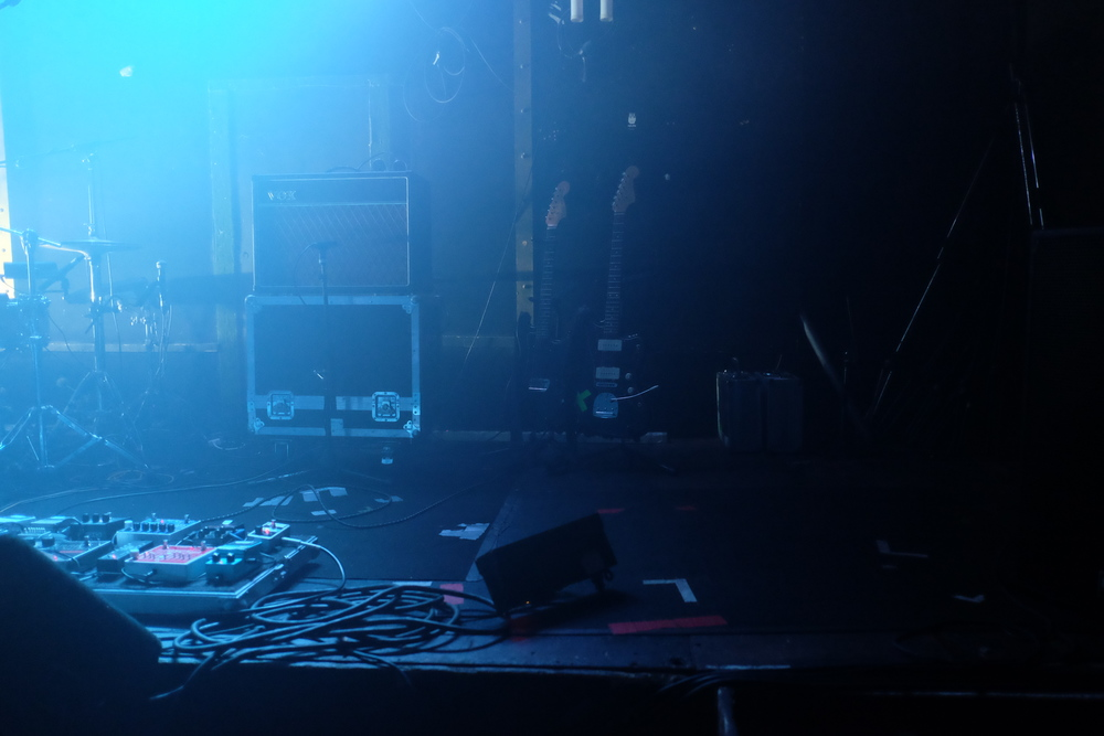 Soundcheck at Lusts' show at Electrowerkz, London, 2015