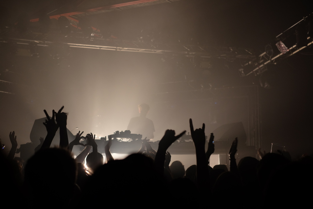 The crowd at  Jamie xx  show at den Atelier in Luxembourg, 2015