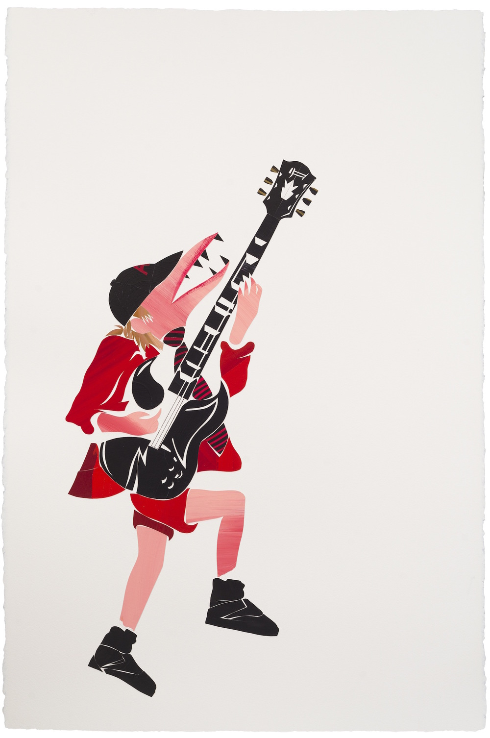 Angus Young AC/DC 2015. Oil on paper, 160 x 120 Cm
