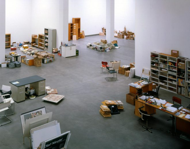 Florian Slotawa's installation view at Bonner Kunstverein, 2004