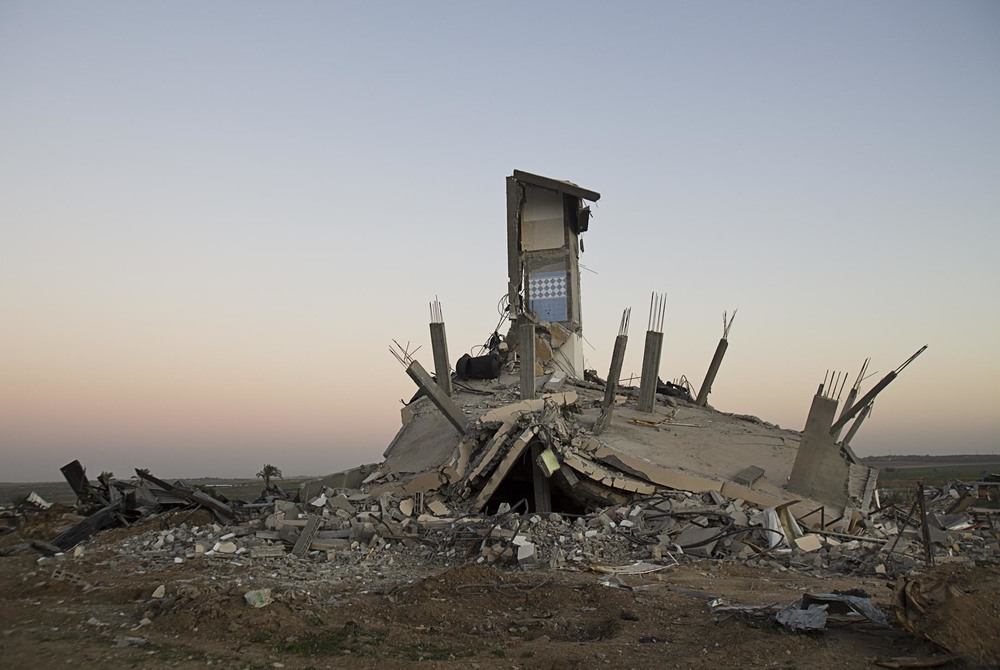 Destroyed house in Abu Drabu Neighbourhood in the East of Gaza City after the Israeli invasion into the Gazastrip during the turn of the year 2008/09. January 2009.