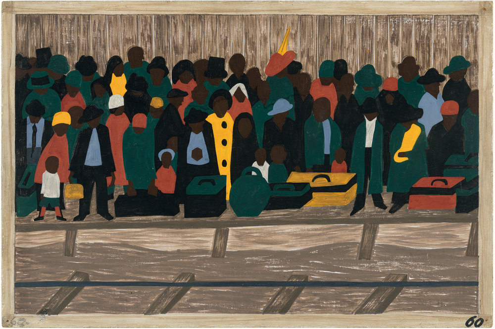 Panel No. 60 from 'The Migration of the Negro' series, 1941 by Jacob Lawrence