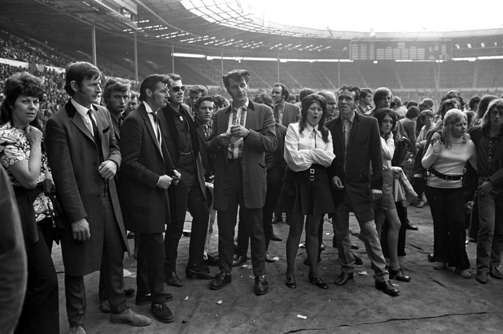 Teddy Boys at a Pop Concert, Wembley 1972 by   Brian Moody