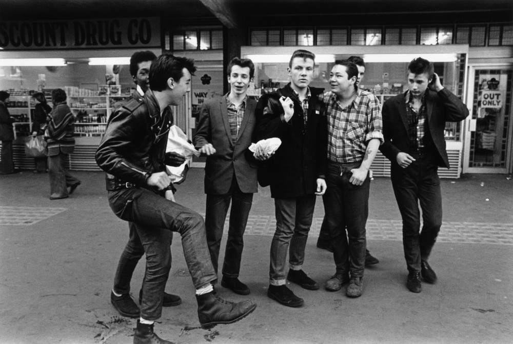 A group of Teddy boys / Rockers, London 1979 by Janette Beckman