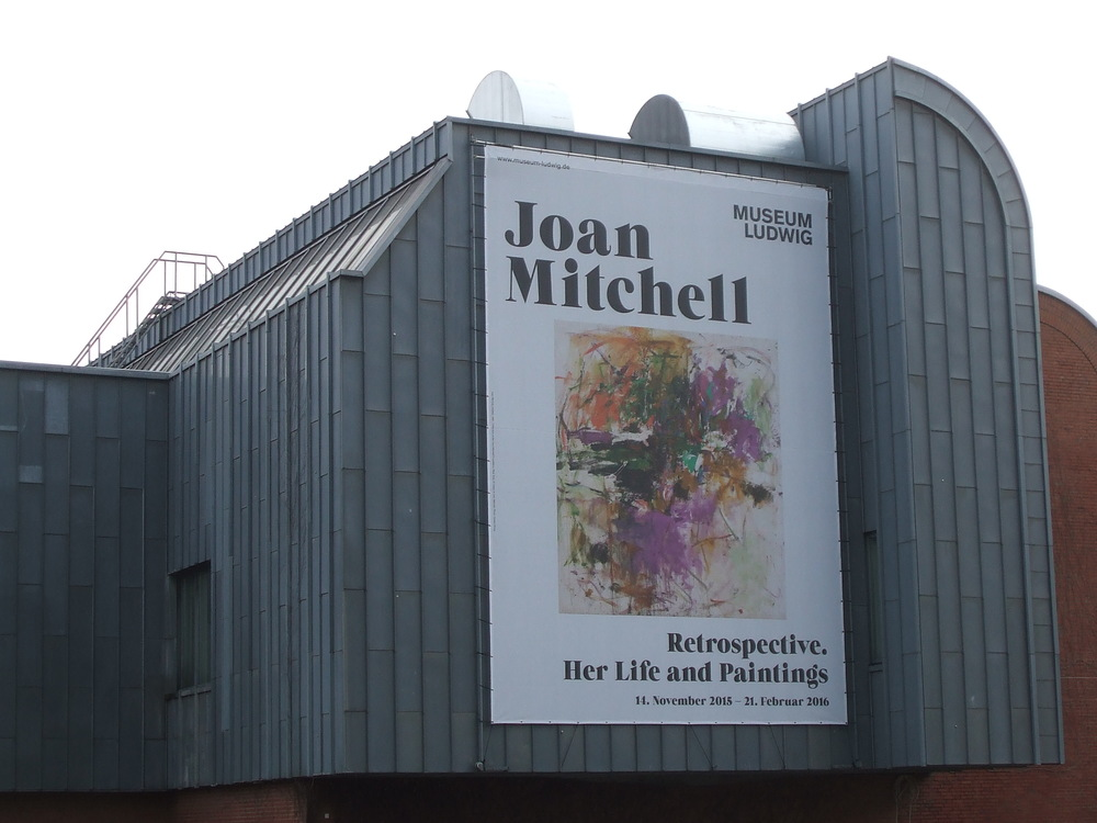 Joan Mitchell exhibition poster at Ludwig Museum of Cologne