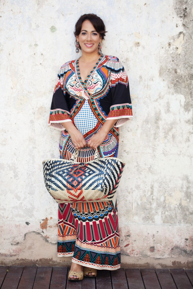 Designer/Owner Zaira Lombardo at Papiro Y Yo store in Panama.