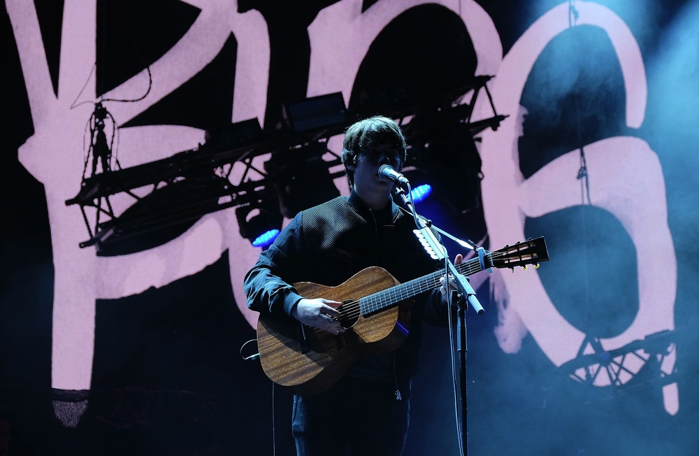 Jake Bugg performing at the Park Stage, Glastonbury, 2016.