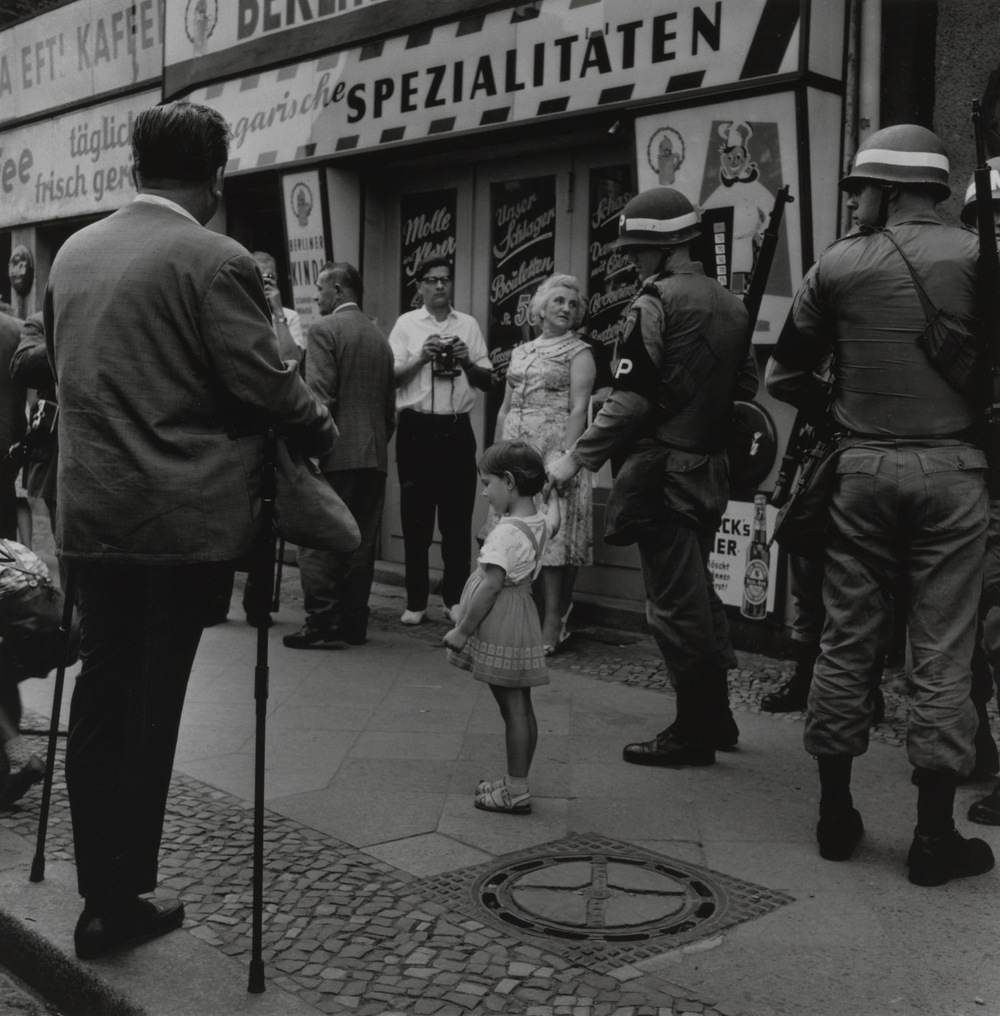 Checkpoint Charlie in Berlin, 1961 by Don McCullin.