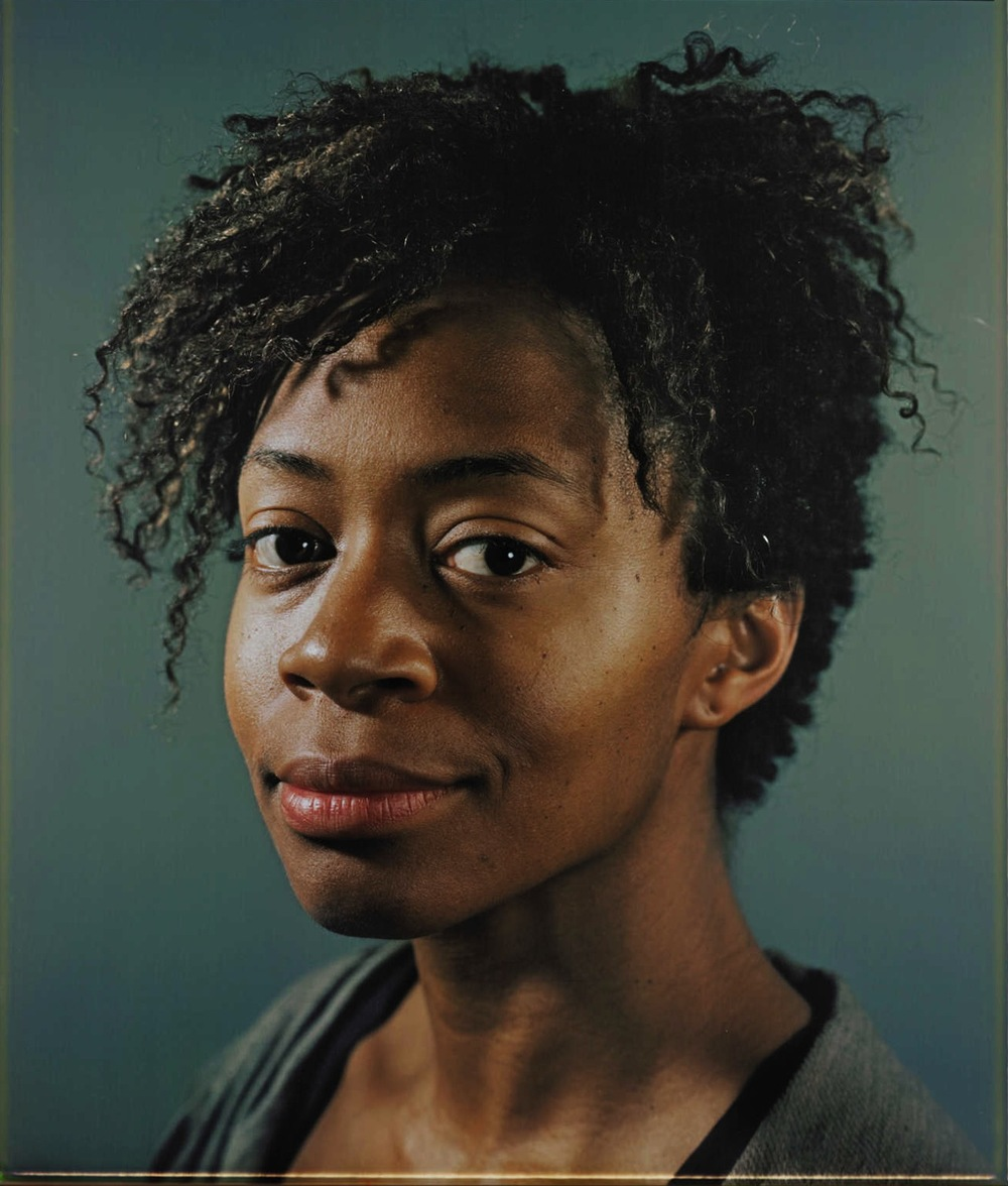 Kara Walker, Photographed by Chuck Close.