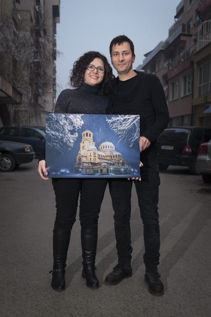 Behrokh Sabounchi, 30-years-old, and Mahdi Mosadegpur, 33-years-old, are from Iran. She emigrated to Bulgaria three years ago, and he came 10 years ago.