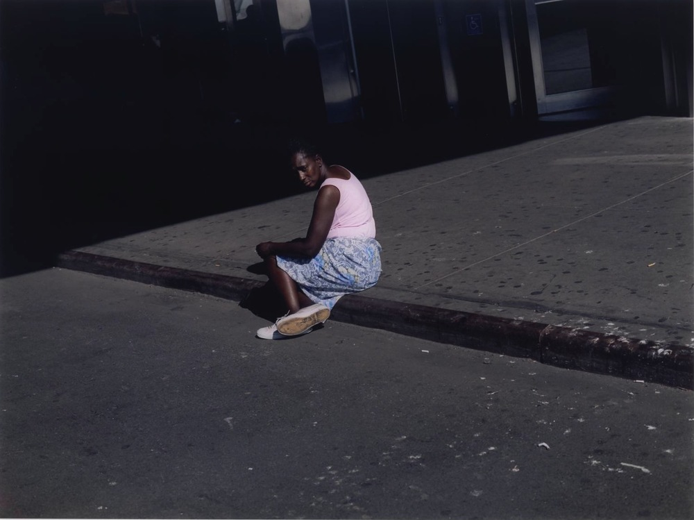Woman on Sidewalk , New York,  2002  by Paul Graham.