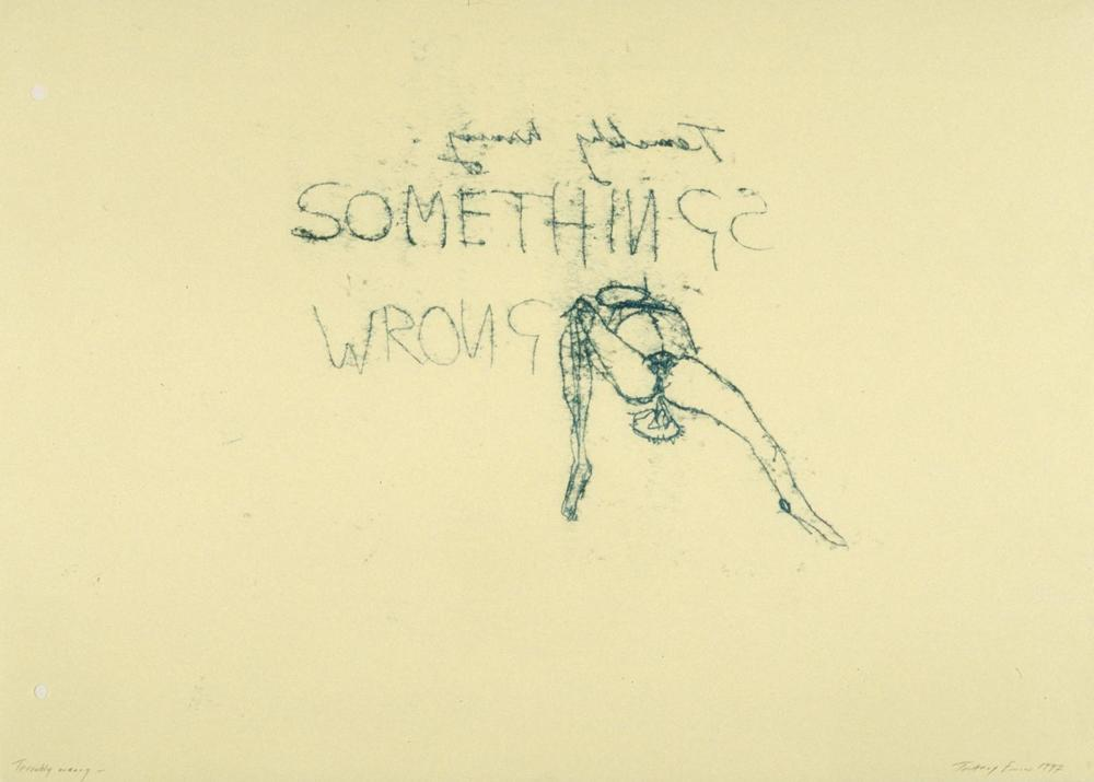 Terribly Wrong , 1997 by Tracey Emin.