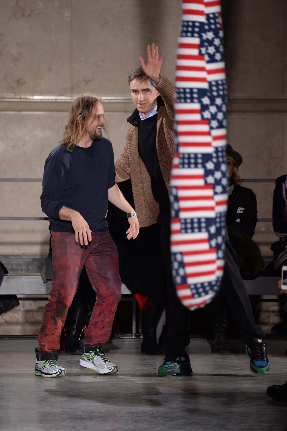 Sterling Ruby and Raf Simons, 2014. Photo source:  Vogue  Runway.