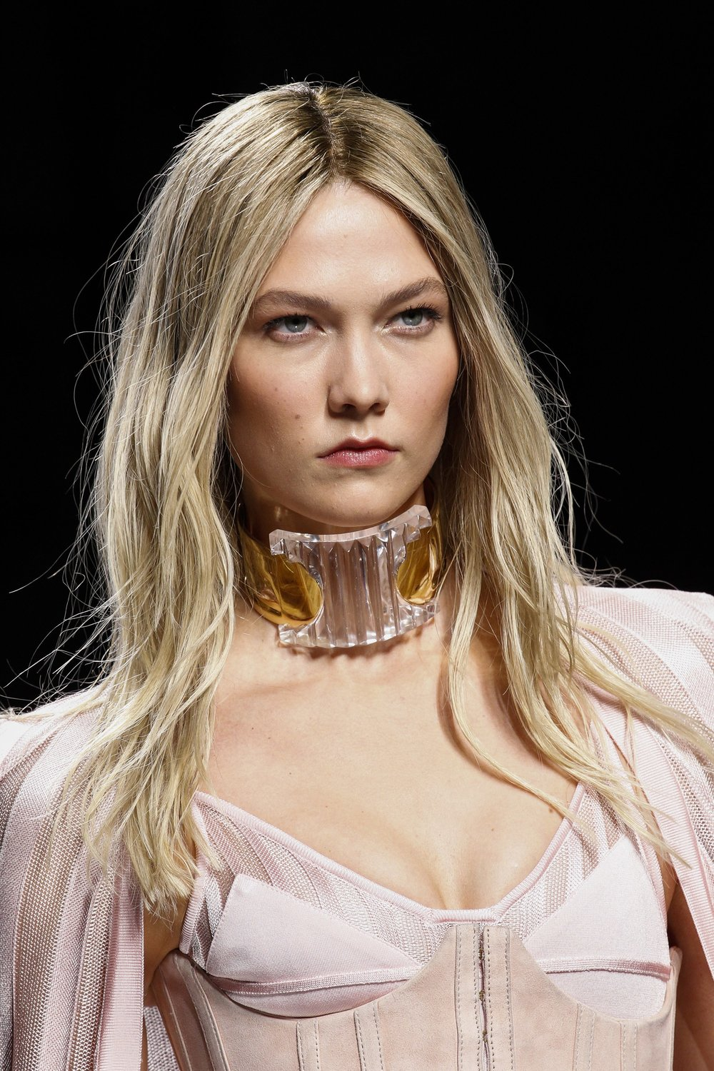 Crystal choker from Balmain's Fall 2016-17 collection. Photo source: Vogue Runway.