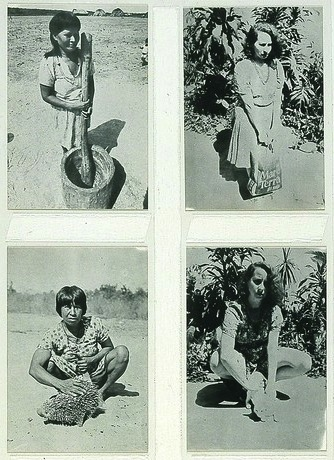 Native Brazil, Alien Brazil,  1977 by Anna Bella Geiger .
