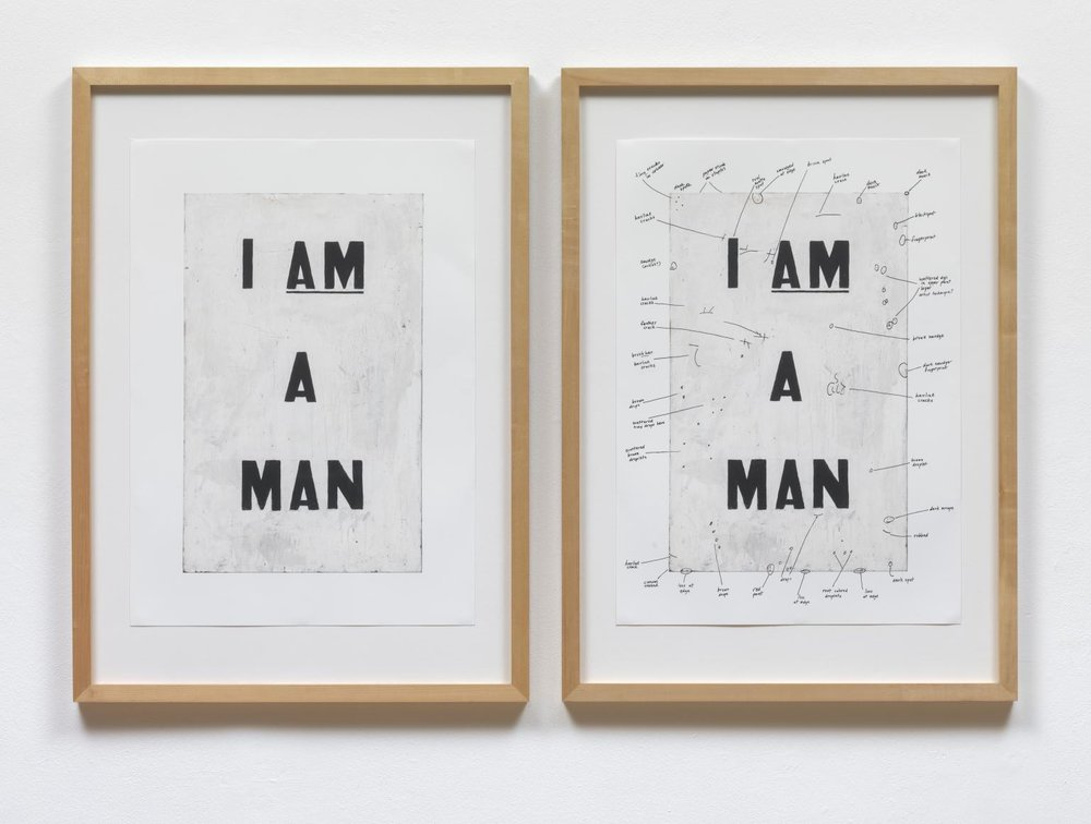 Condition Report , 2000 by Glenn Ligon.