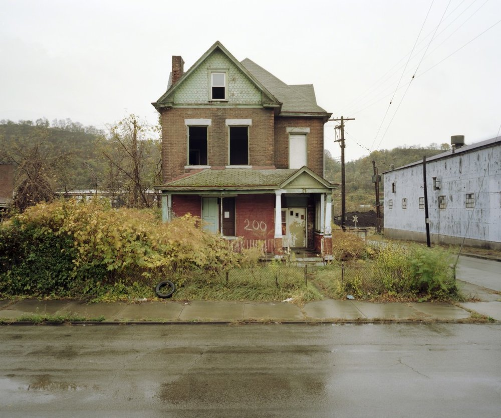 Abandoned, Talbot Ave., Braddock, Pennsylvania , 2008. From the series ' Solitary Structures ' by Sean Hemmerle.