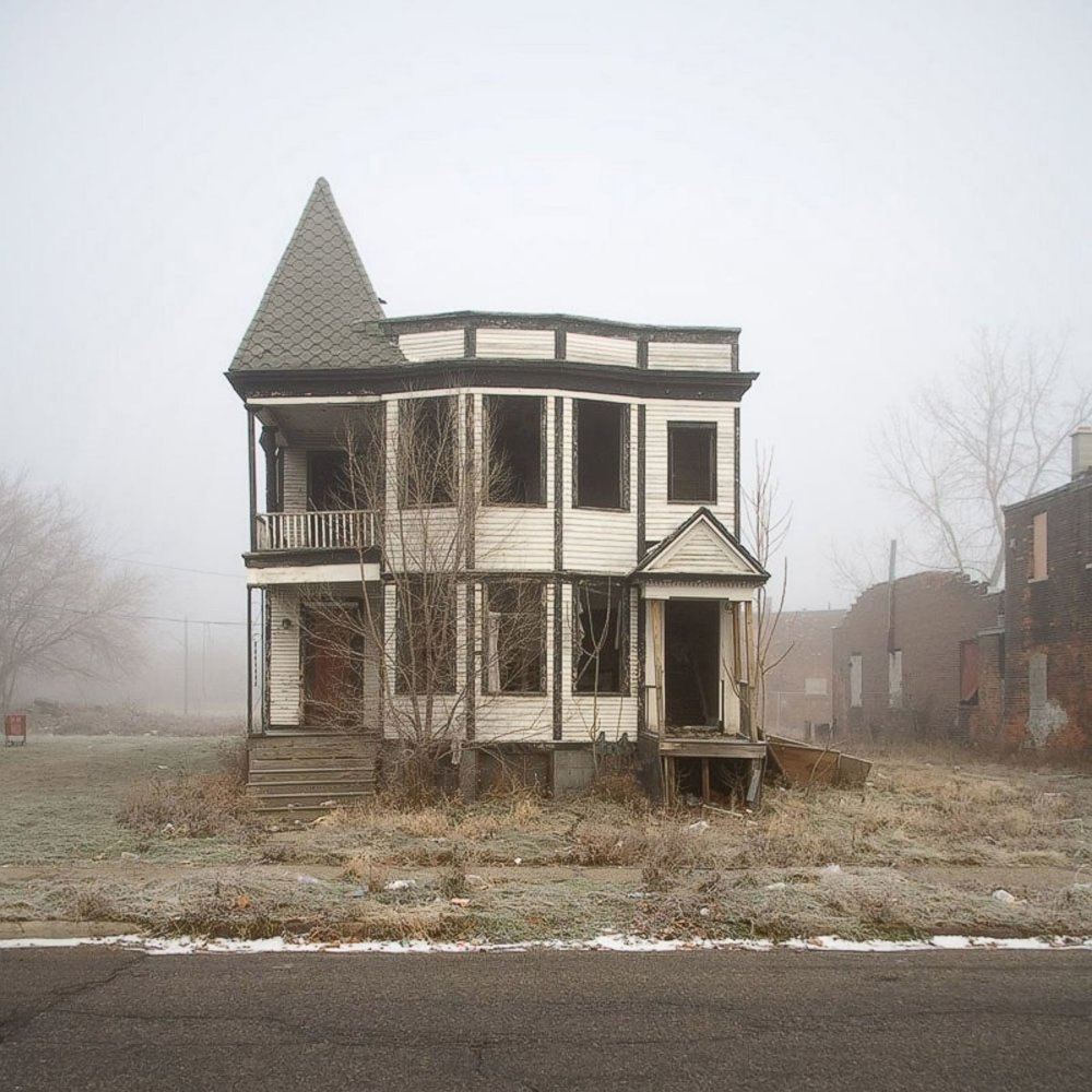 From the series '  100 Abandoned Houses  ' by Kevin Bauman.