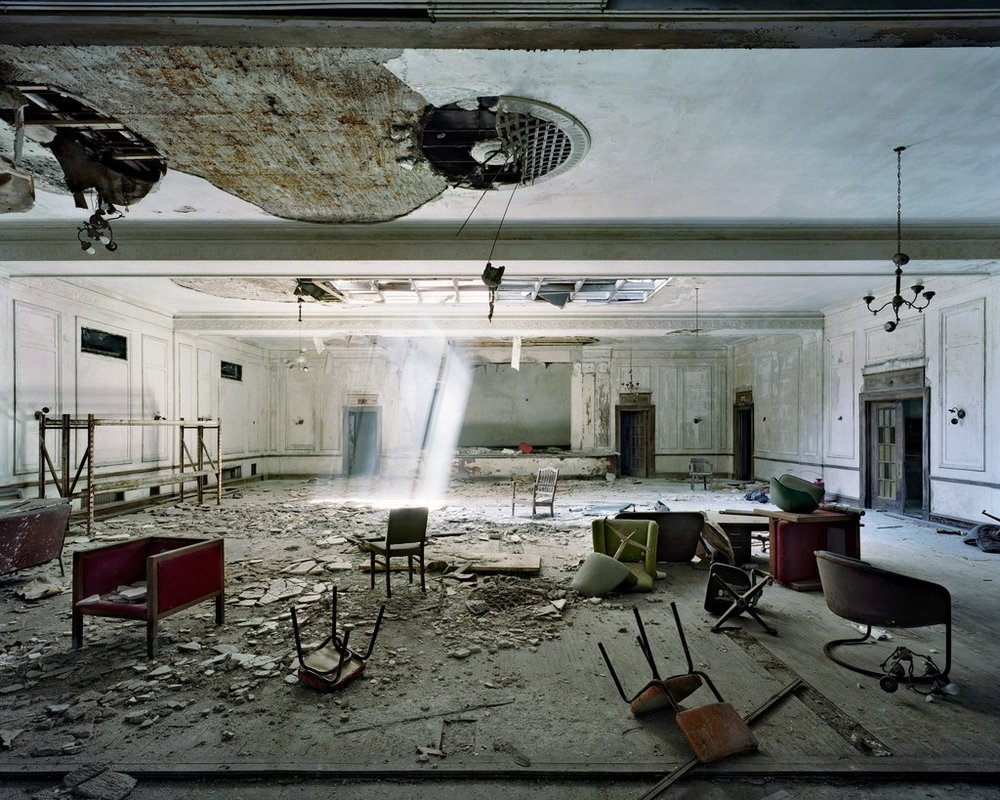 Ballroom, American Hotel , 2007 by Yves Marchand and Romain Meffre.