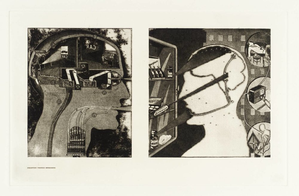 Secrets of Life - The Human Machine and How it Works: Perception through Impression, 1970 by Sir Eduardo Paolozzi.