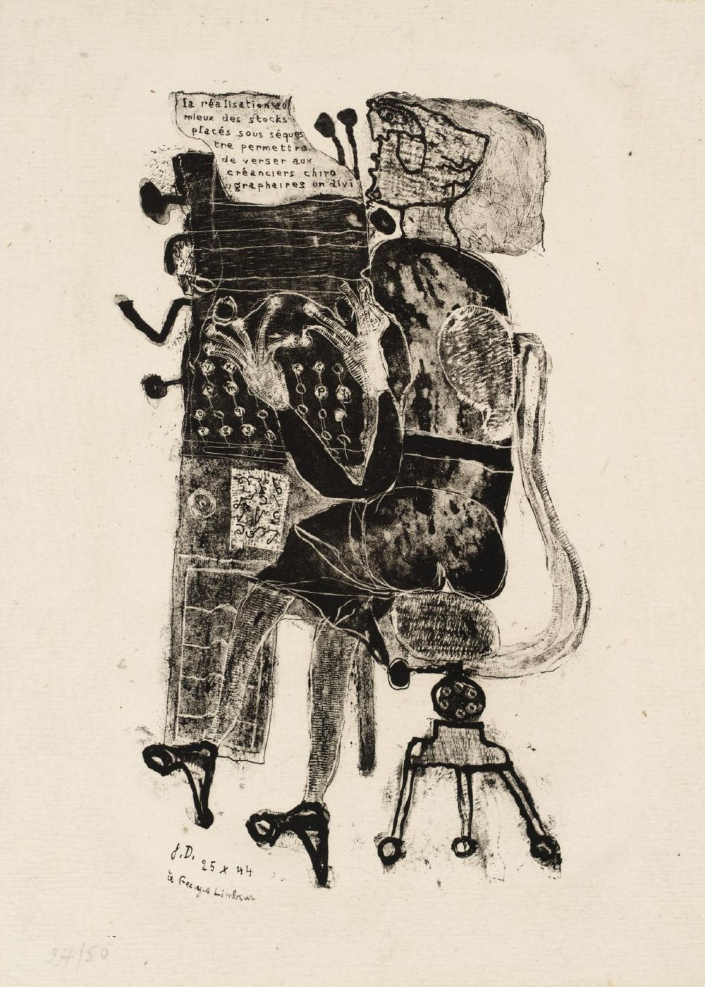 Typist from the series 'Matter and Memory' 1944, by Jean Dubuffet.