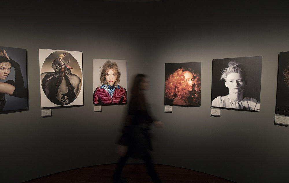 Hair by Sam McKnight, 2016 exhibition view at Somerset House, London.