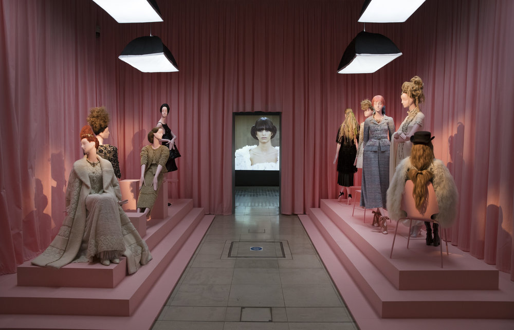 Chanel collection at Hair by Sam McKnight, 2016 exhibition at Somerset House, London.