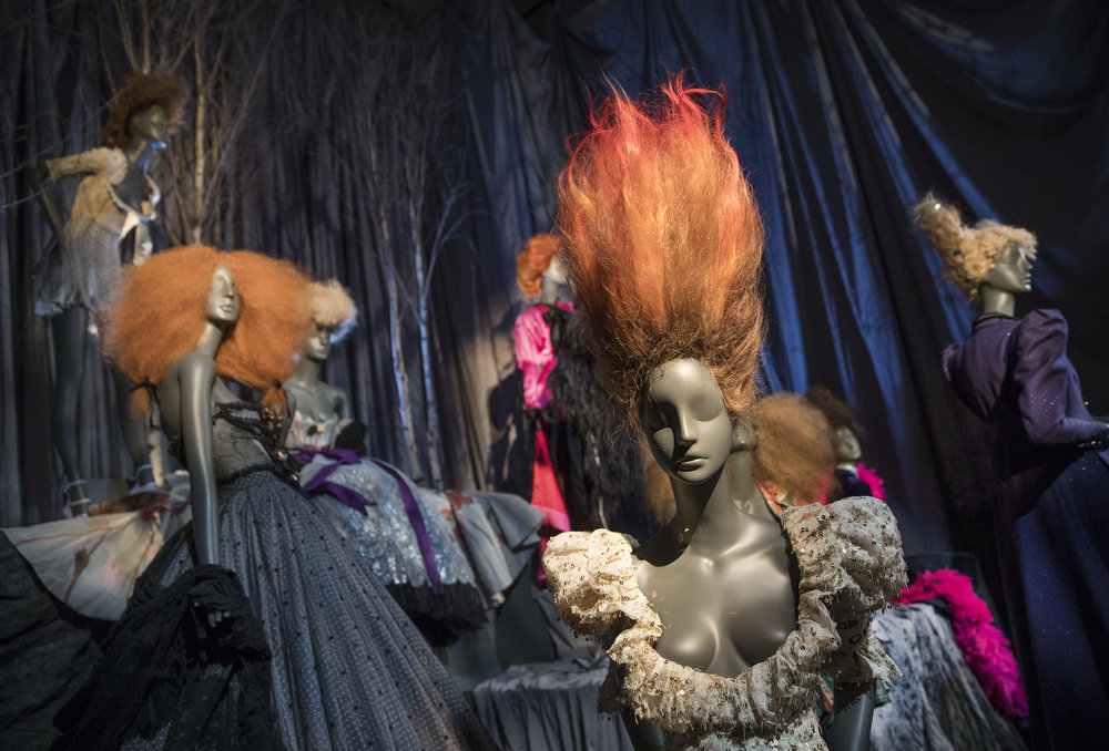 Vivienne Westwood collection at  Hair by Sam McKnight  , 2016 exhibition at Somerset House, London.
