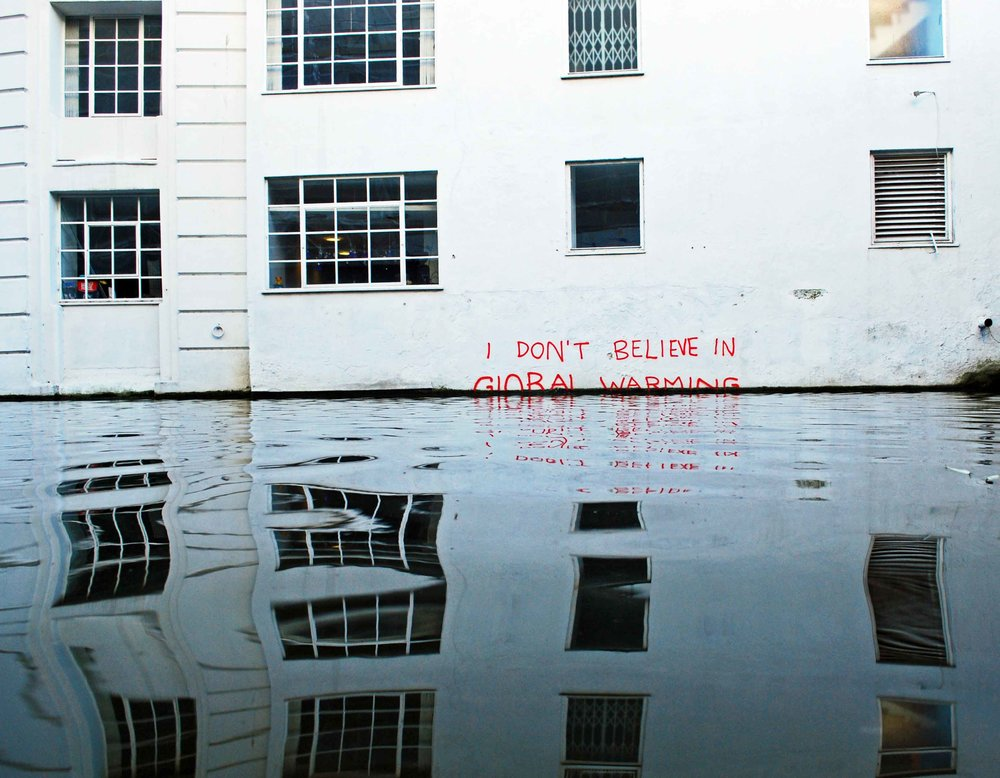 I Don't Believe in Global Warming, 2009 in Camden, London by Banksy.