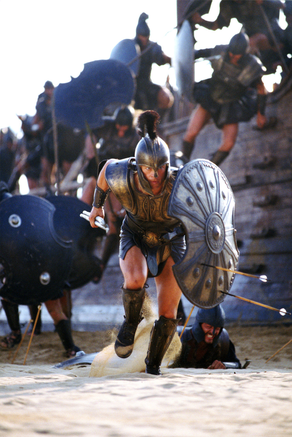 Brad Pitt as Achilles in 'Troy' 2004, directed by Wolfgang Petersen.
