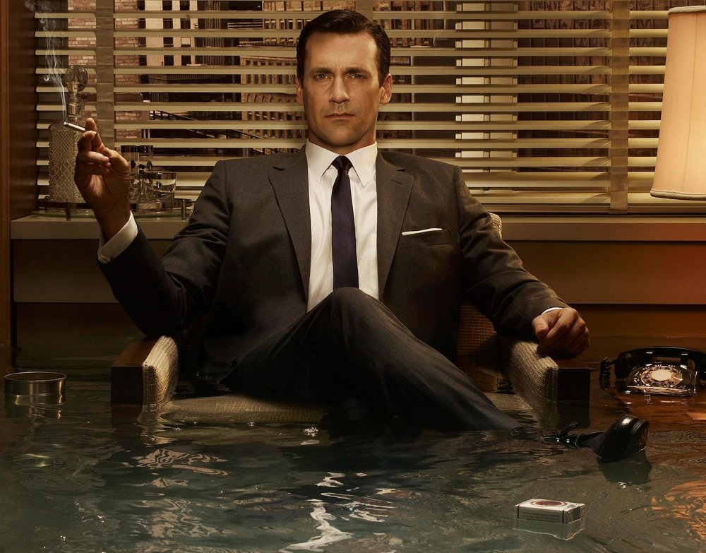 Jon Hamm as Don Draper in 'Mad Men', 2007 – 2015.