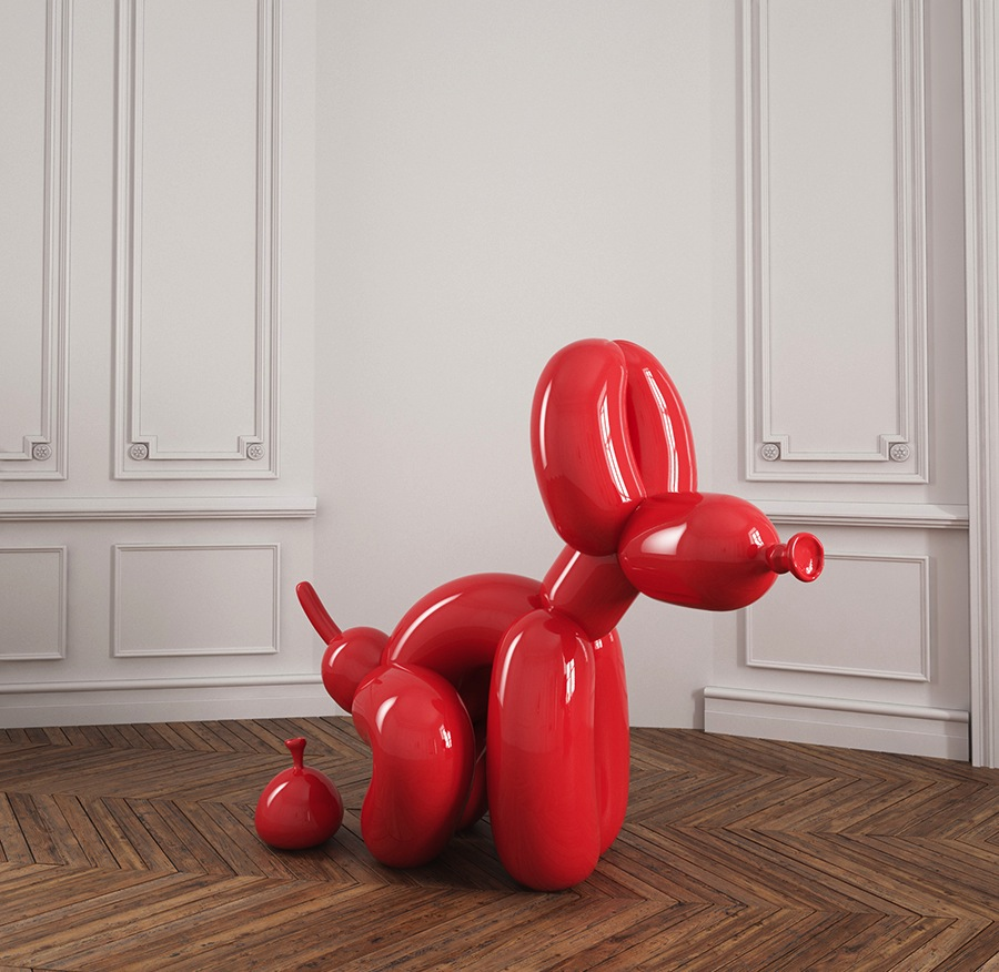 POPek squatting balloon dog, 2016.