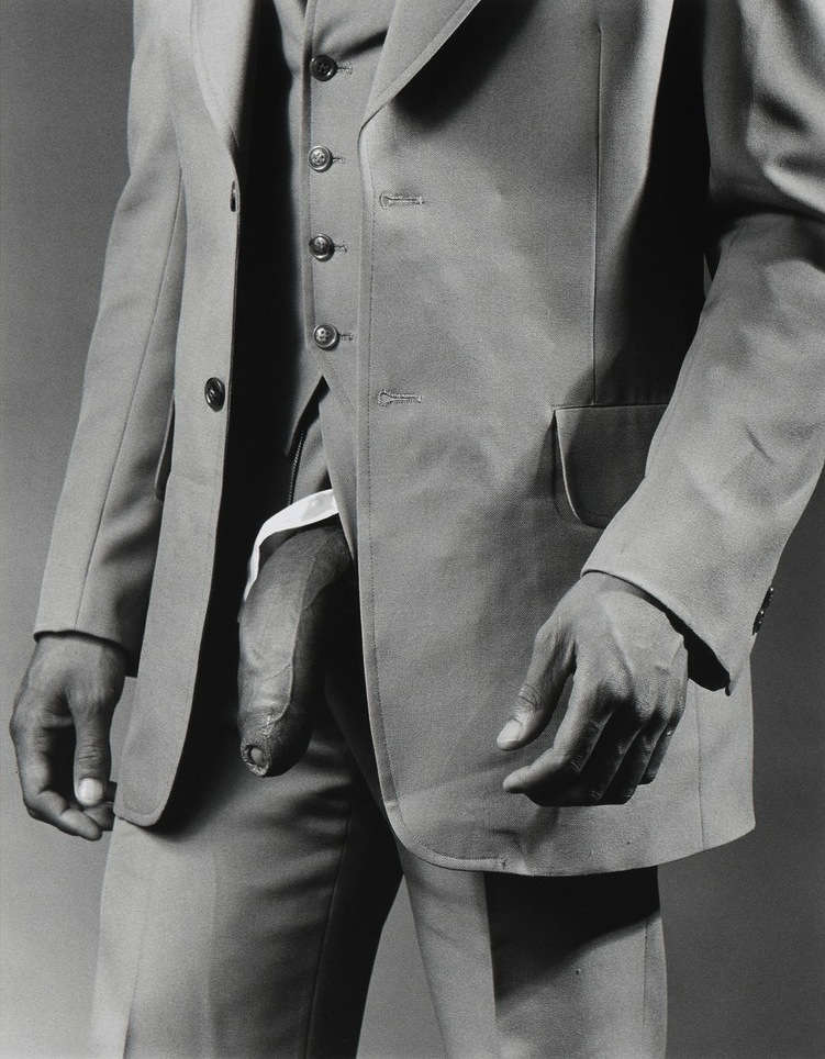 Man in Polyester Suit , 1980 by Robert Mapplethorpe.