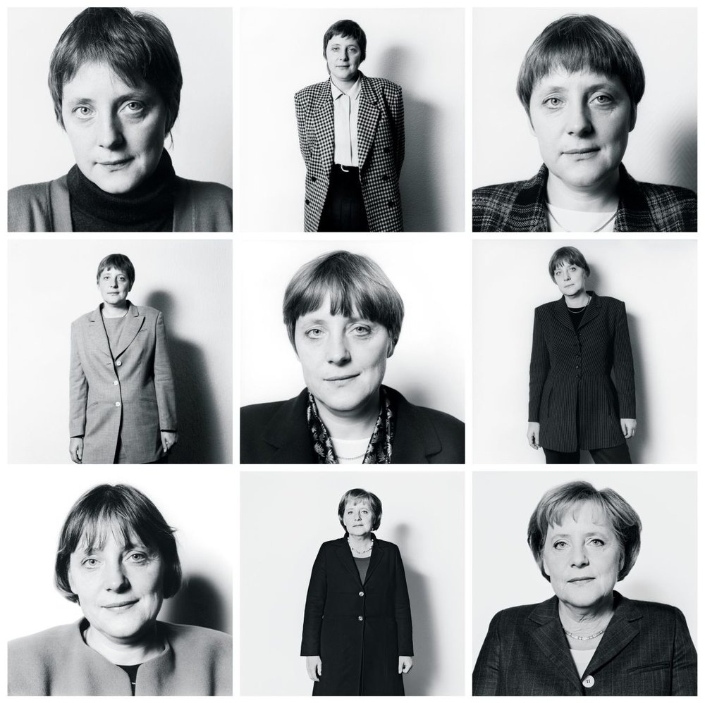 Angela Merkel shot by  Herlinde Koelbl .