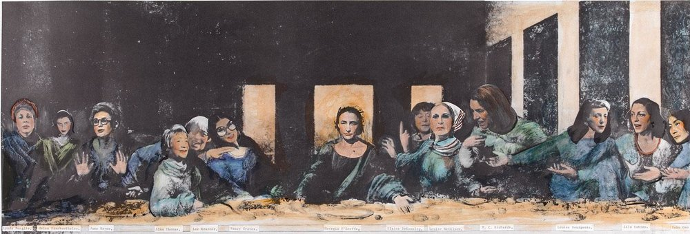Some Living American Women Artists / Last Supper, 1972 by Mary Beth Edelson.