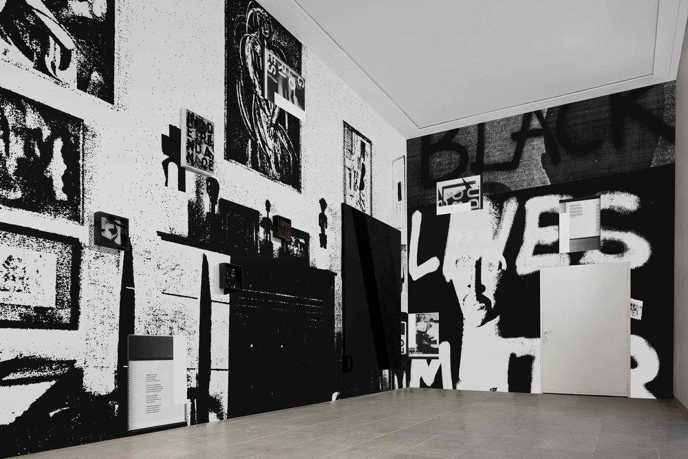 Black Lives Matter 2015 installation at Venice by Adam Pendleton.
