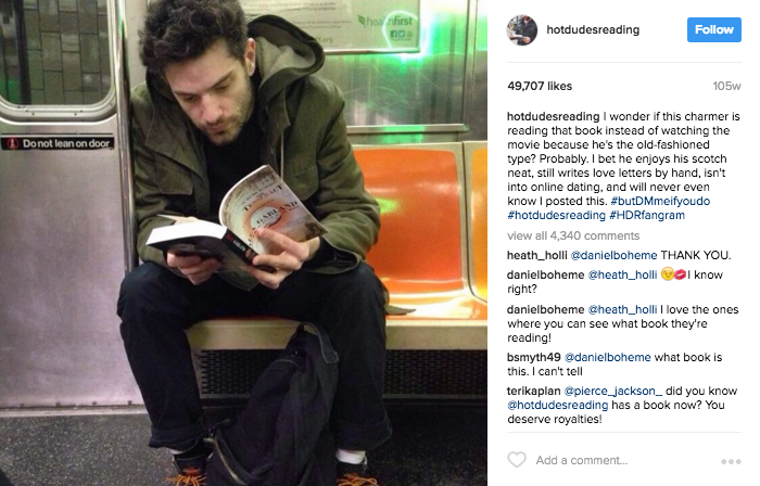 Screenshot of a post from @HotDudesReading