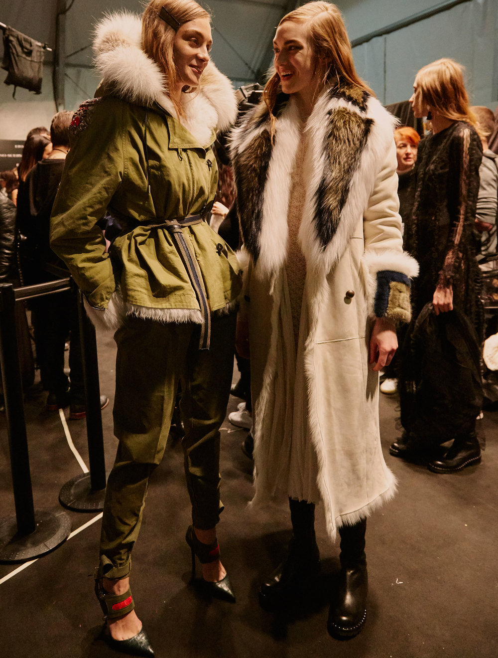 Backstage at Ermanno Scervino's AW17 show.