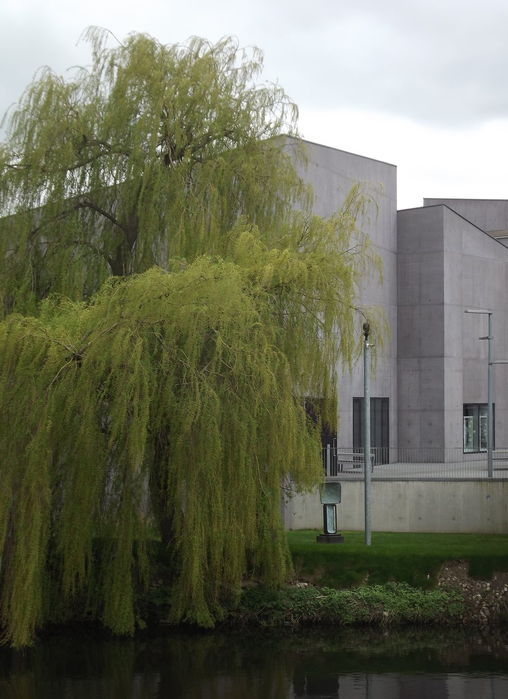 The exterior of Hepworth Wakefield gallery.