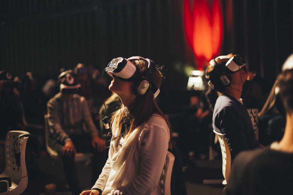 Inside the world's first virtual reality cinema in Amsterdam. Photo source:  The VR Cinema .