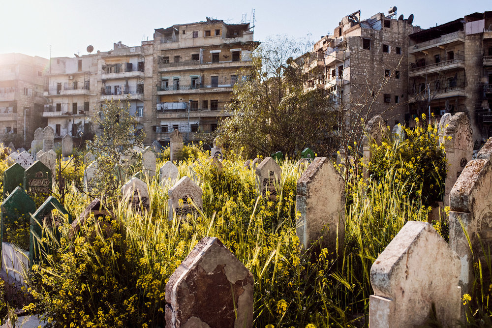A cemetery near the Old City in Syria. Photo by Sebastián Liste for The New York Times.
